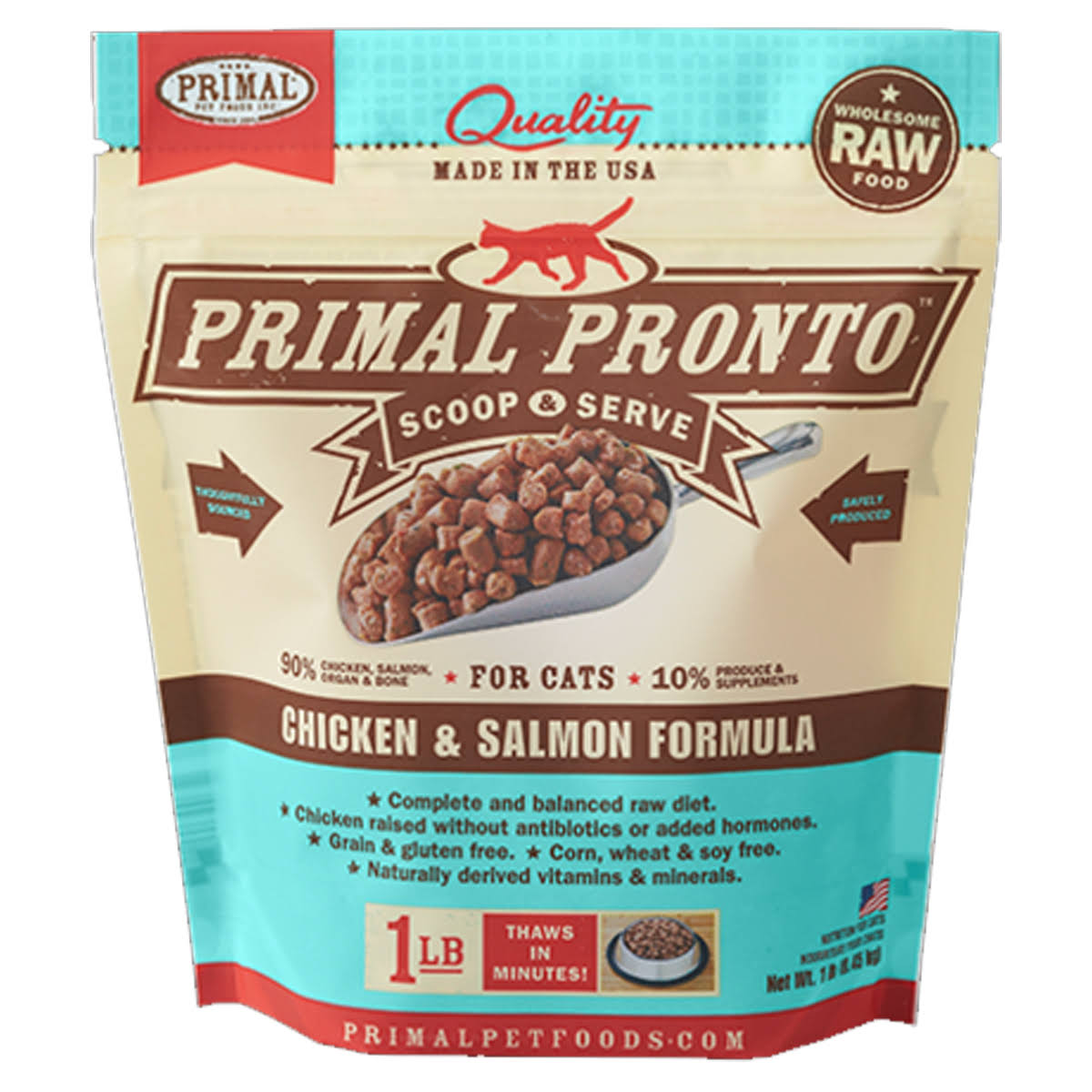 Primal Pronto Formula for Cats - Chicken & Salmon