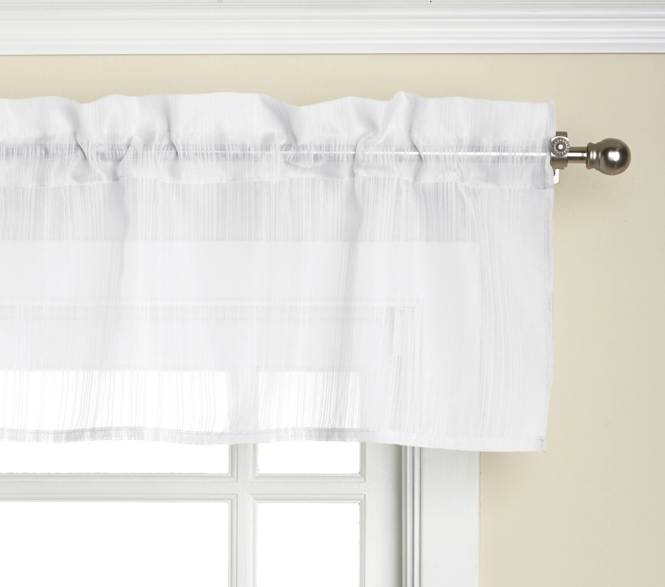 Lorraine Home Fashions Harmony Valance, 56 x 12-Inch, White