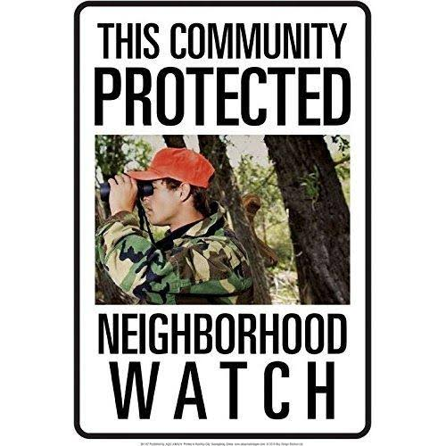 Protected by Bigfoot Tin Sign - 8x11.5,