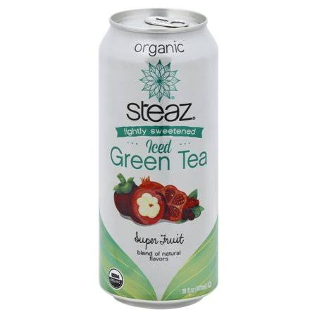 Steaz Zero Calorie Iced Green Tea - Superfruit, 16 oz