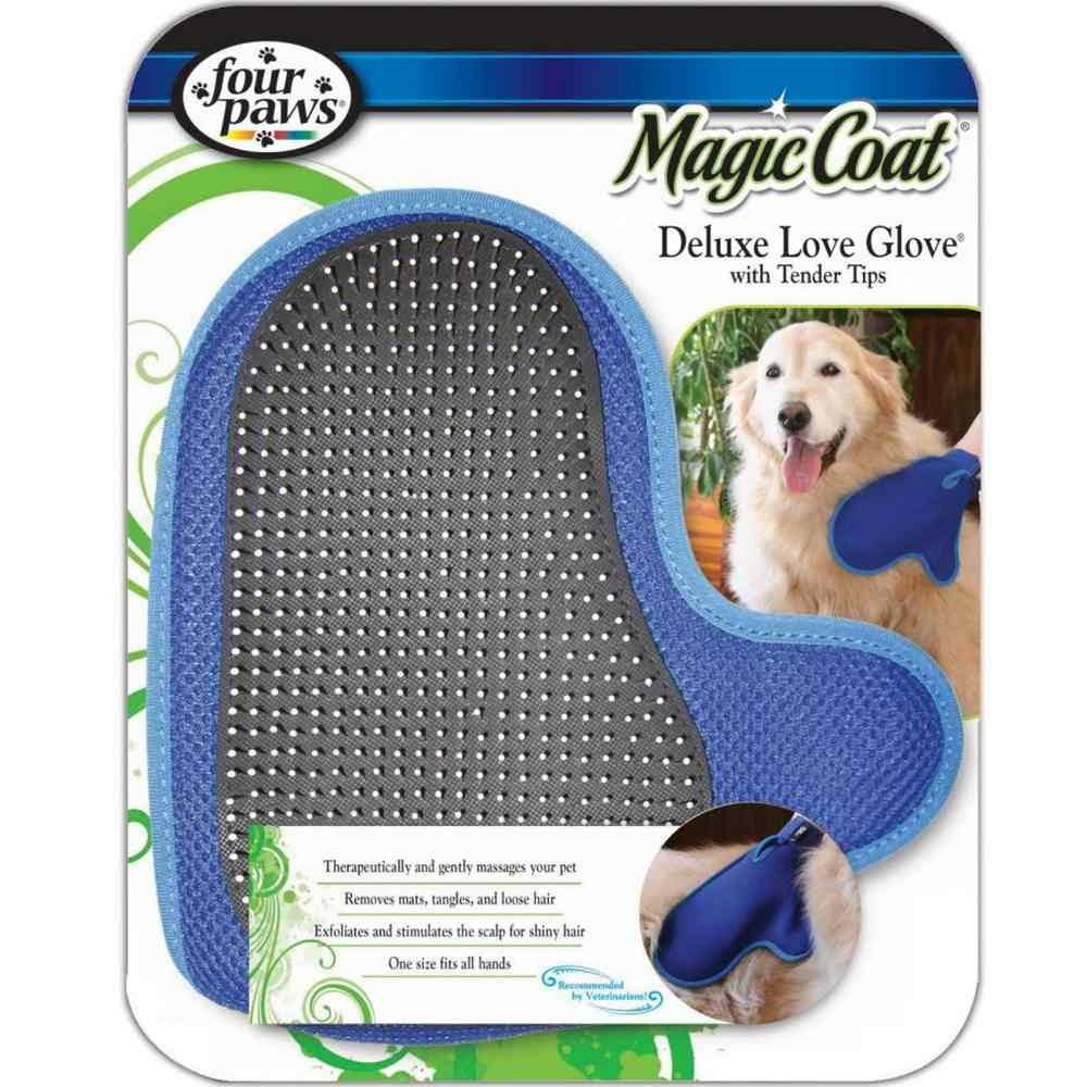 Four Paws Magic Coat Dog Grooming Deluxe Love Glove - with tender tips