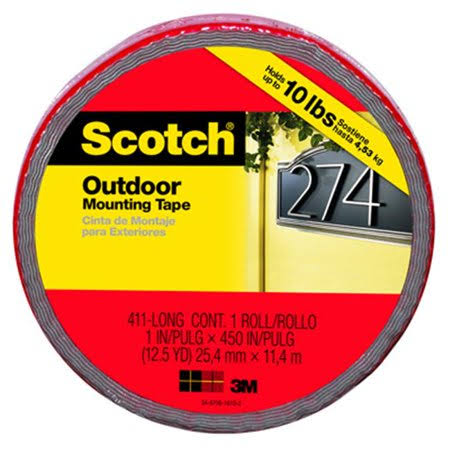 "Scotch Extreme Mounting Tape - Black, 1"" X 400"""