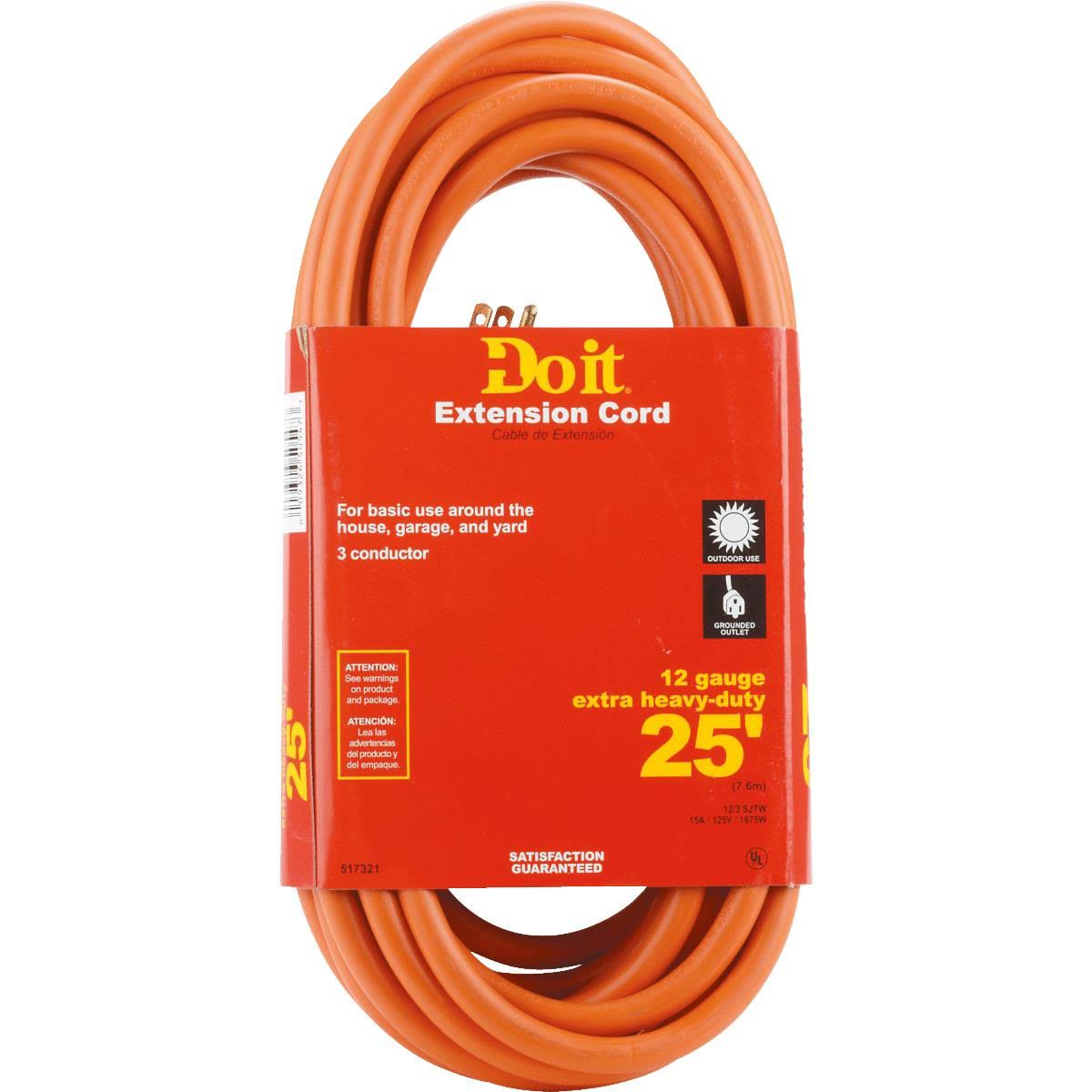 Do It Heavy Duty Outdoor Extension Cord - 25'