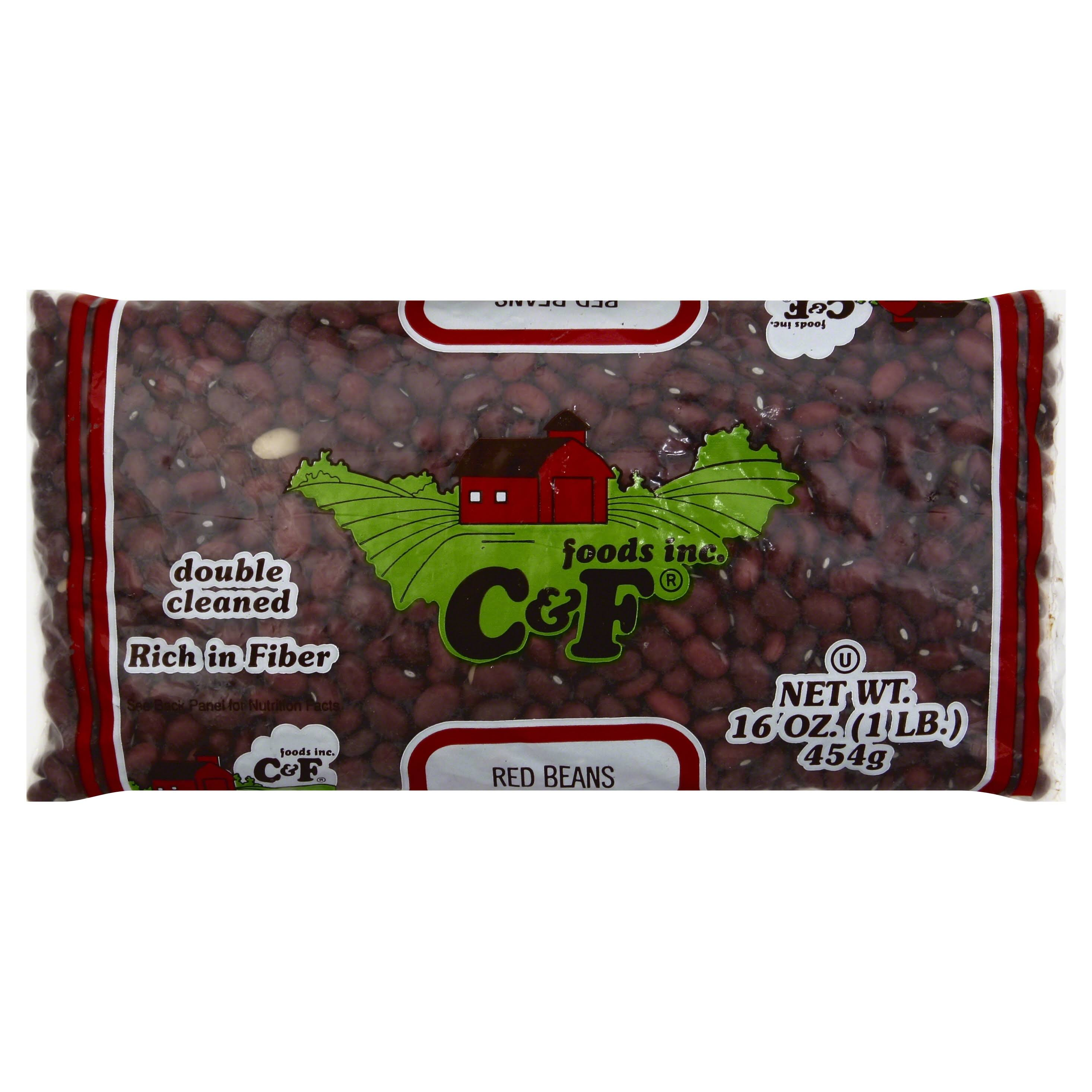 C & F Foods Red Beans - 16 oz