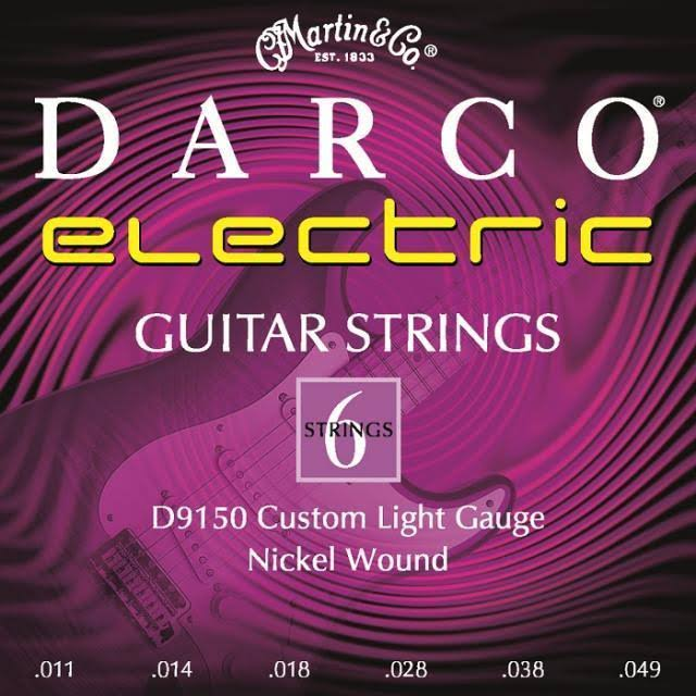 Martin D9150 Custom Light Darco Electric Guitar Strings - 11 to 49 Nickel Wound