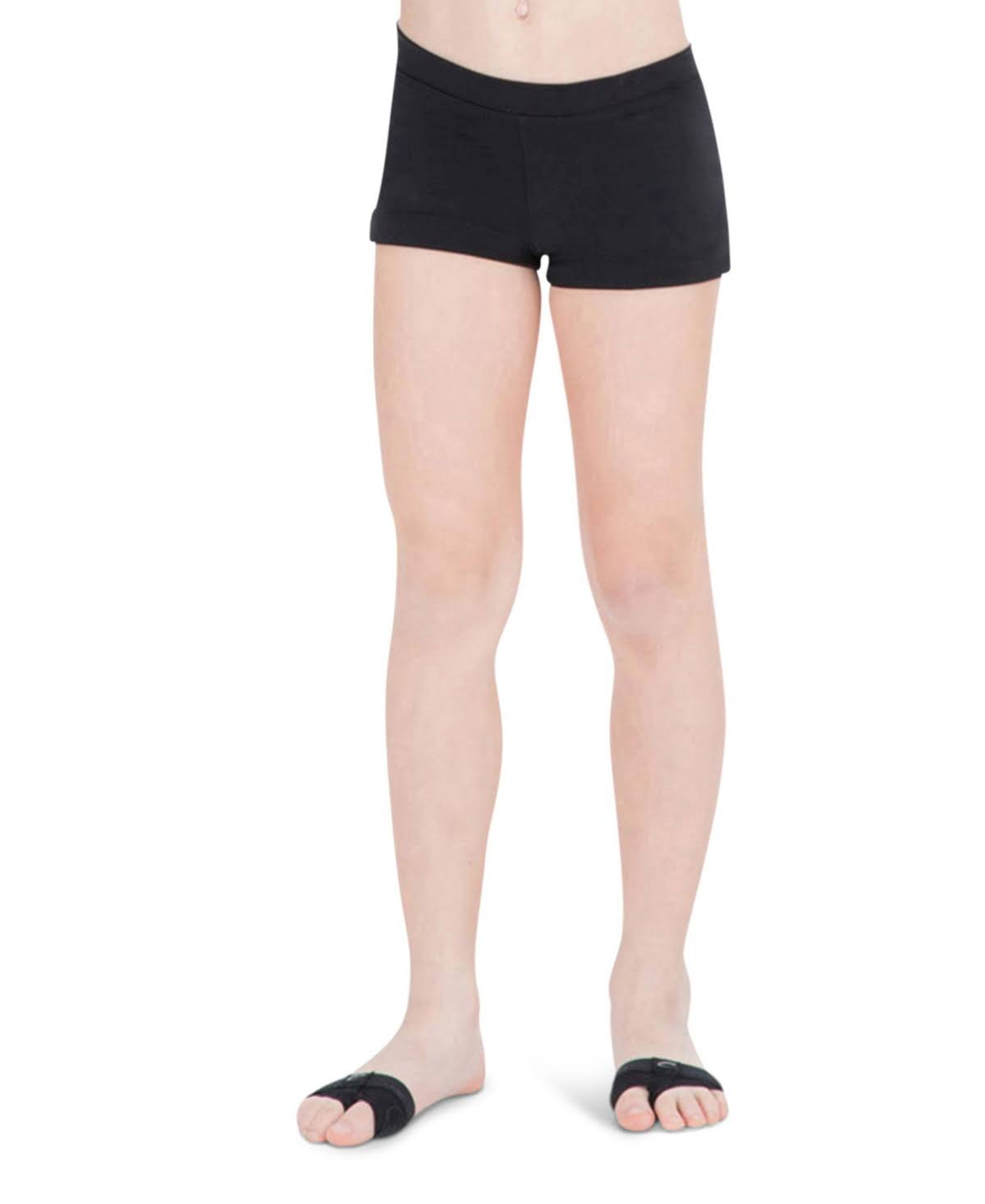 Capezio Girls' Boy Cut Low Rise Short - Black
