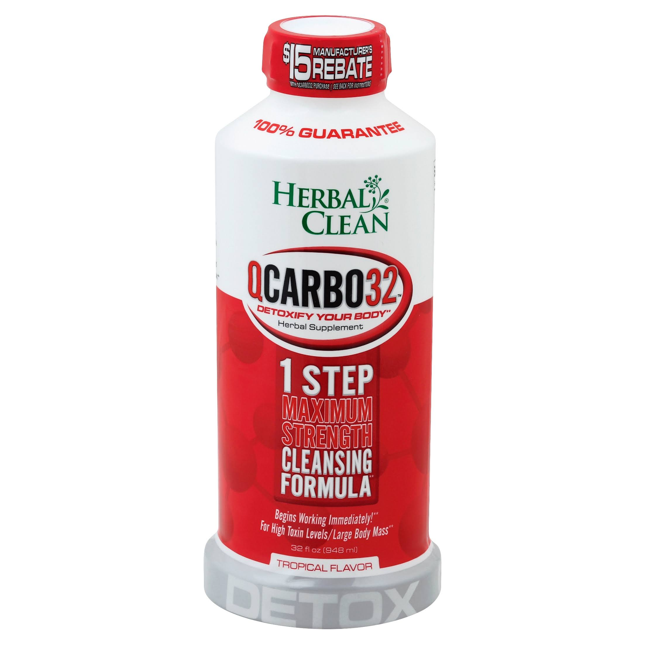 Herbal Clean QCarbo32 with Eliminex Plus - Tropical, 950ml