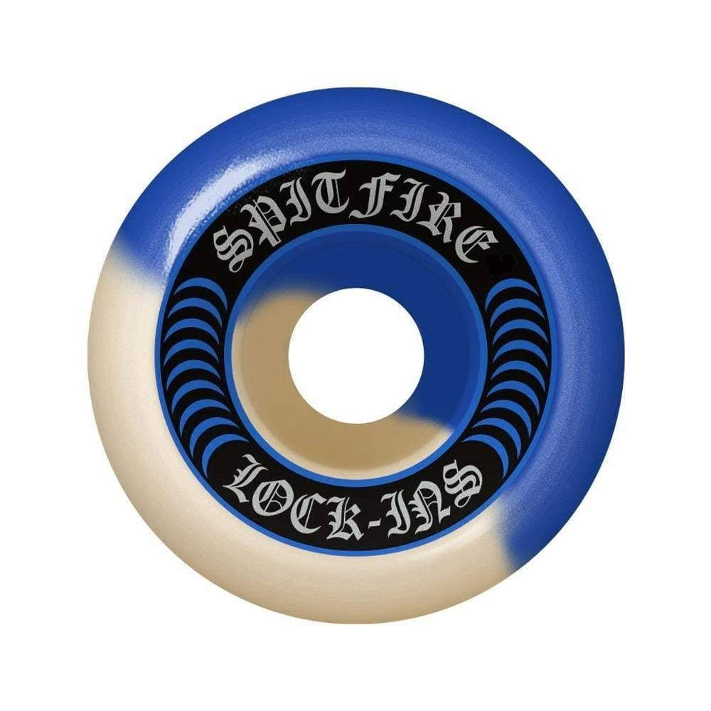 Spitfire F4 Lock Ins Wheels Set - Blue/Natural, 53mm
