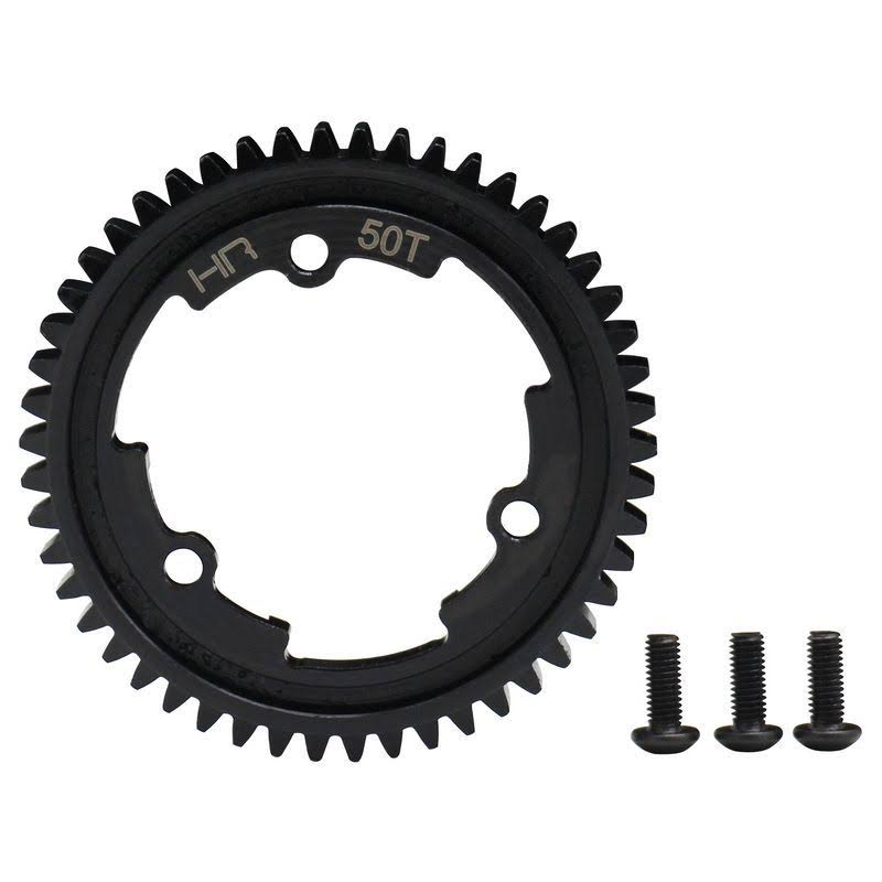 Hot Racing 50 Tooth 1 Steel Spur Gear, for E Revo 2, X-Maxx & XO-1