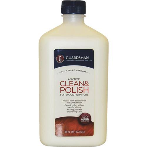 Guardsman Clean and Polish for Wood Furniture - Cream Polish, 16oz