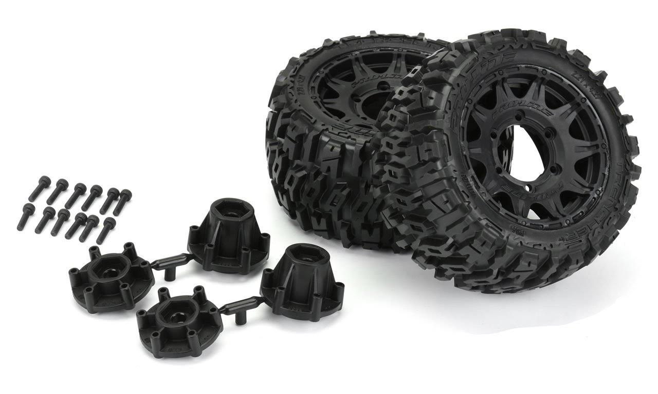 "Proline Trencher LP 2.8"" All Terrain Tires Mounted on Raid Black"