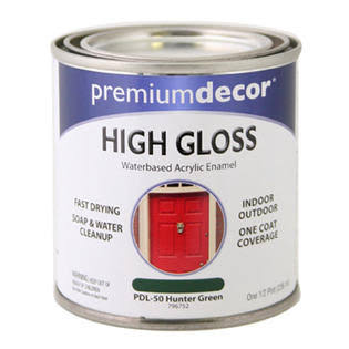 True Value Premium Decor Enamel - 1/2pt, High Gloss, Hunter Green
