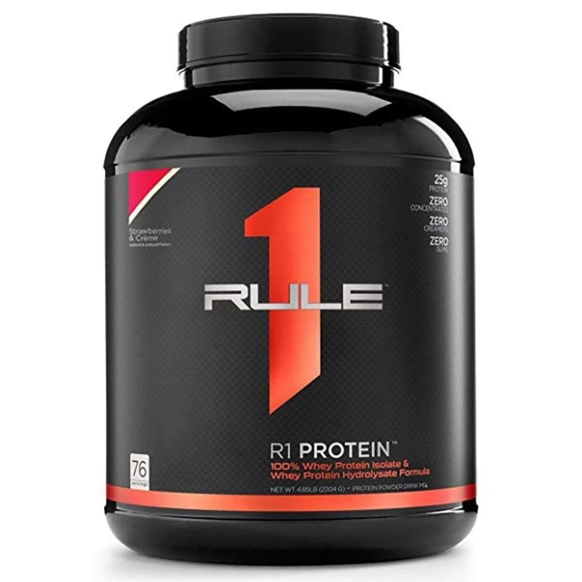 Rule 1 Whey Protein Isolate Dietary Supplement - Chocolate Fudge, 76 Servings
