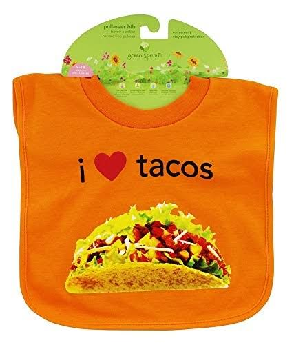 Green Sprouts Favorite Foods Absorbent Pull Over Food Bib - Orange Tacos
