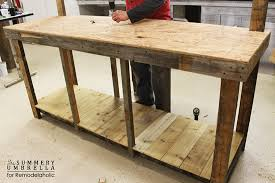 remodelaholic how to build a potting bench from reclaimed wood
