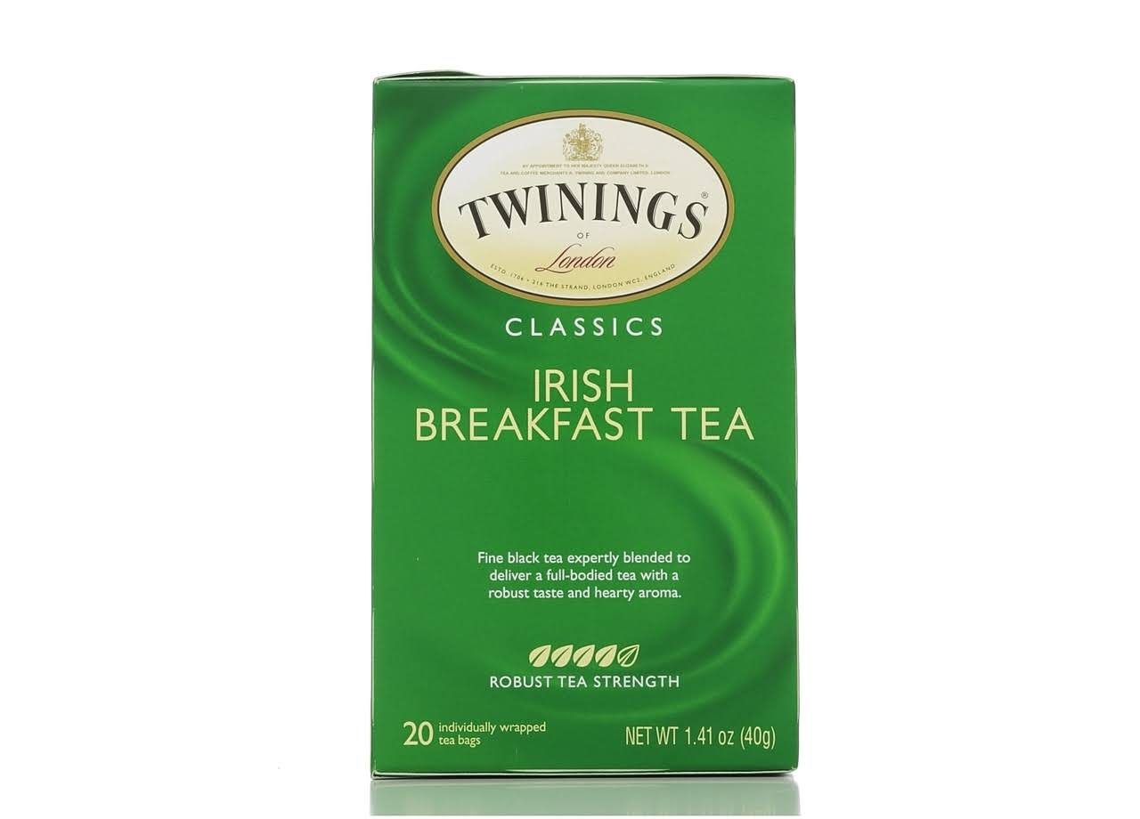 Twinings Of London Irish Breakfast Tea - 20 Individual Tea Bags, 40g