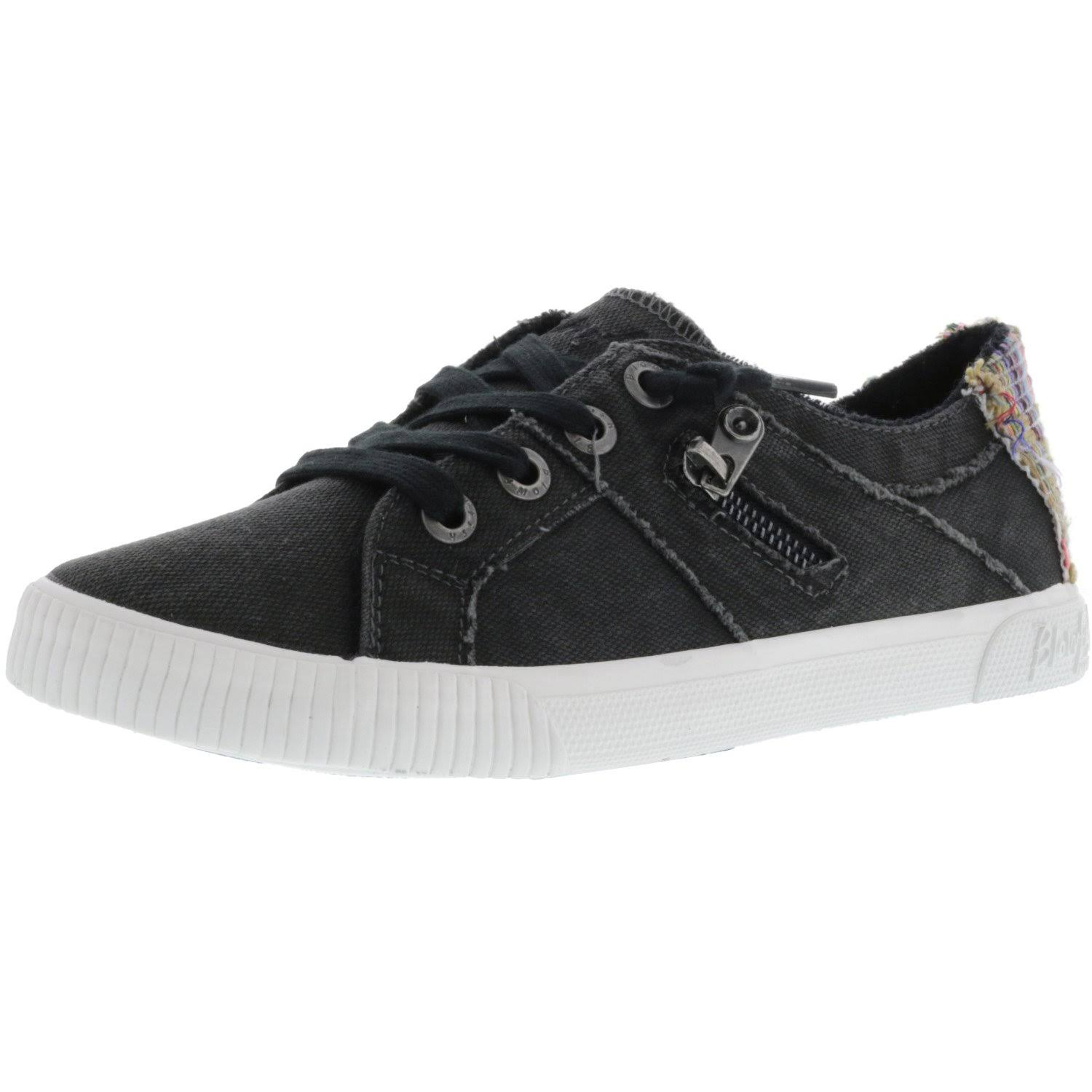 Blowfish Women's Fruit Sneakers - Black Smoked Canvas, Size 10