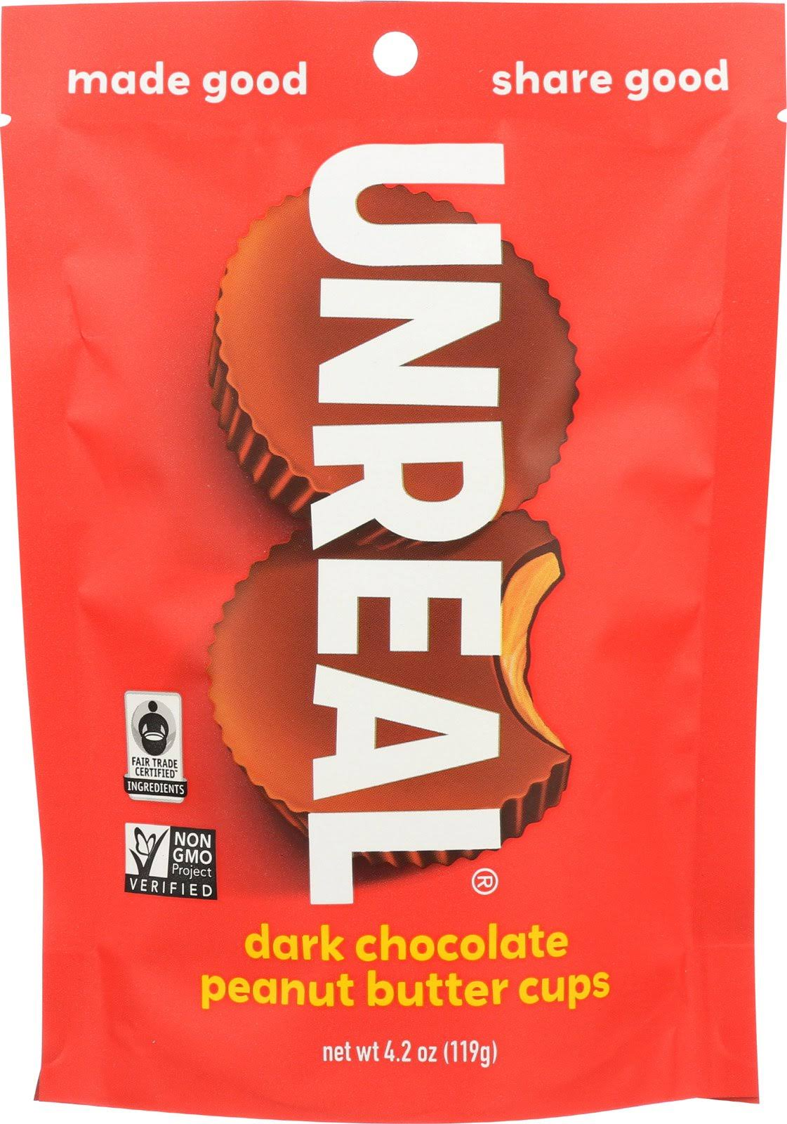 Unreal Dark Chocolate Peanut Butter Cup - 4.0oz