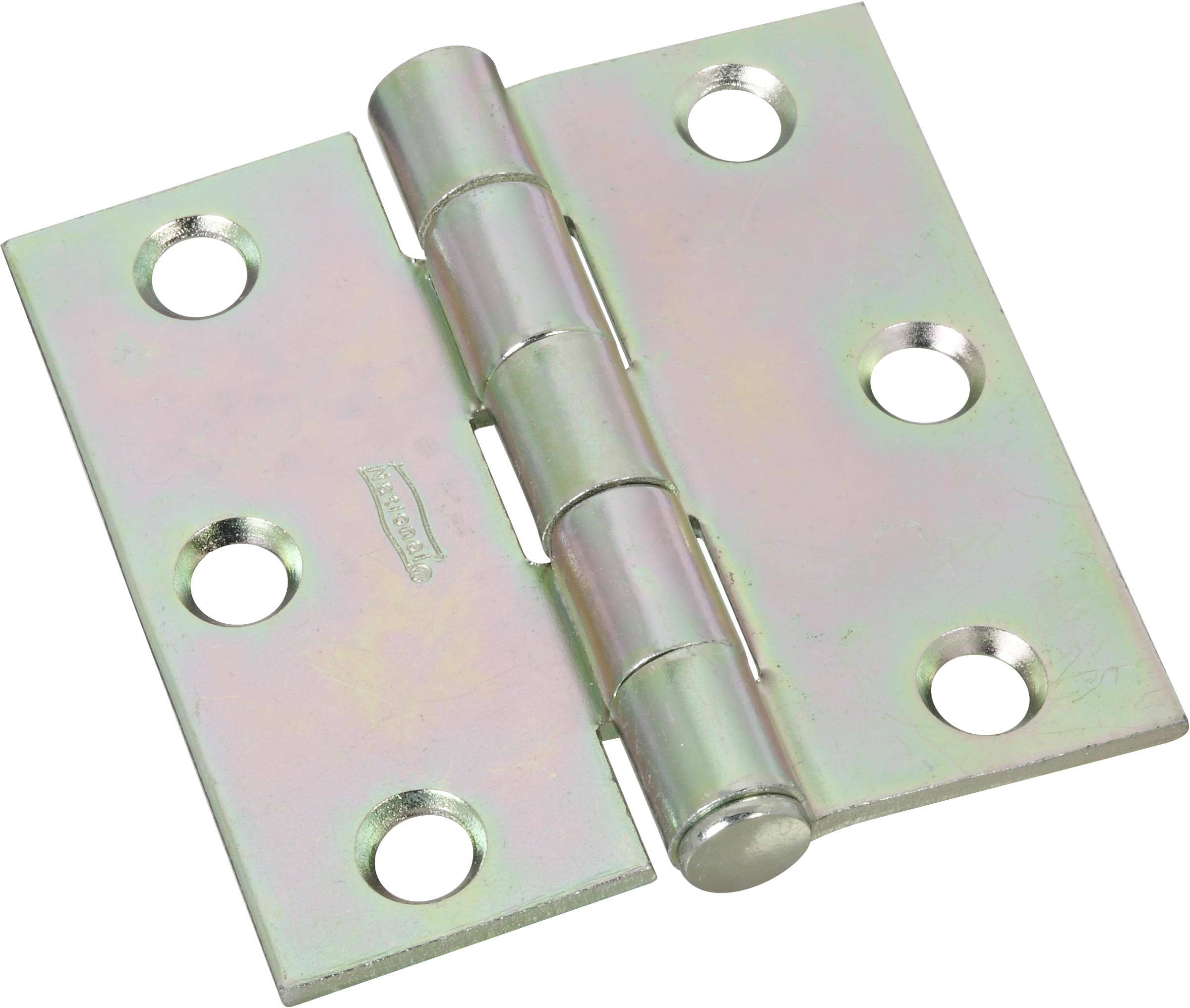 National Hardware V504 Zinc Plated Removable Pin Broad Hinge - 2-1/2""