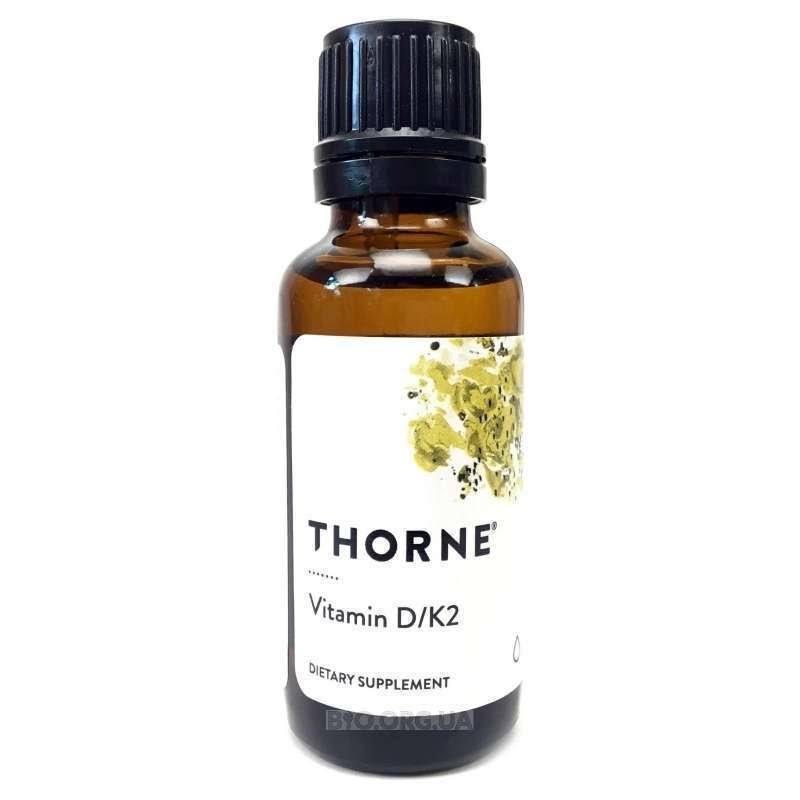 Thorne Research Vitamin D and k2 Supplement - 1oz
