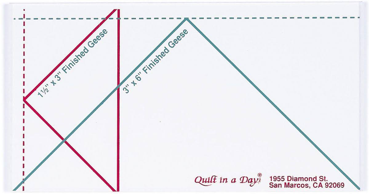 "Quilt in a Day Small Flying Geese Ruler - 3""x 6"""