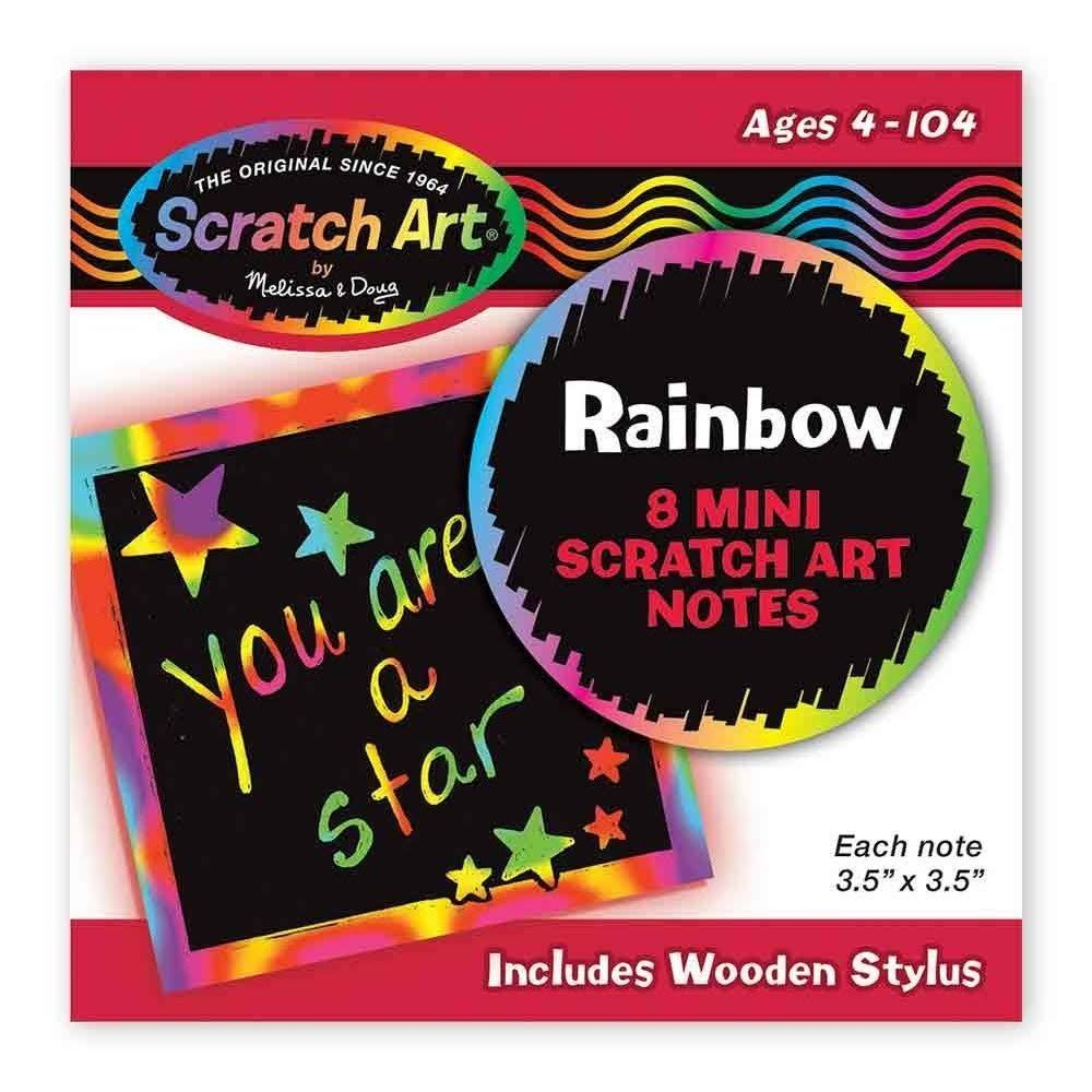 Melissa & Doug Rainbow Mini Scratch Art Notes - 8 Mini Scratch Art Notes