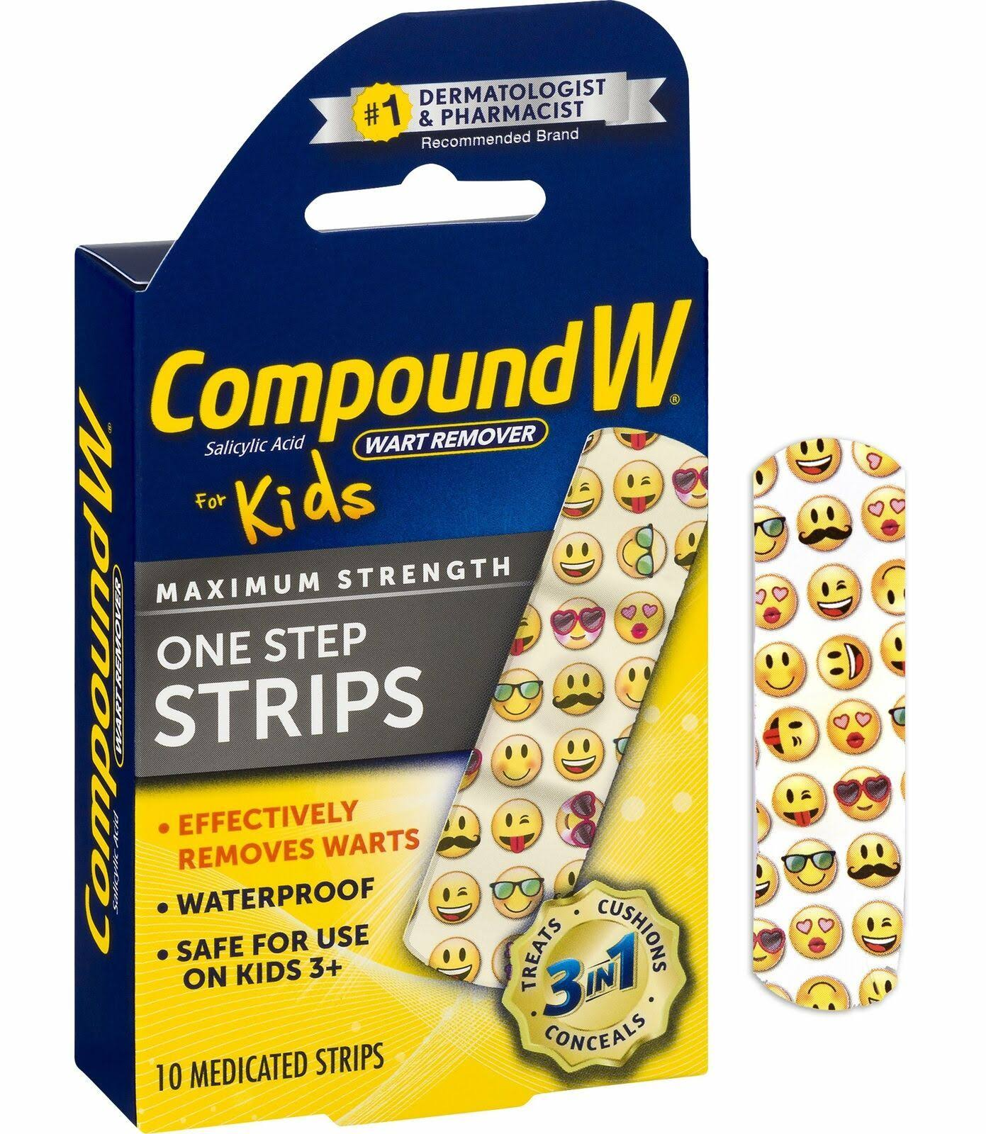 Compound W One Step Strips - for Kids, 10ct