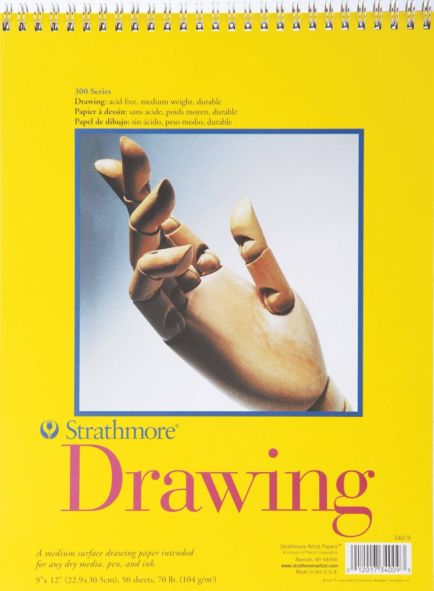 Strathmore Drawing Paper - Medium Surface, 50 Sheets