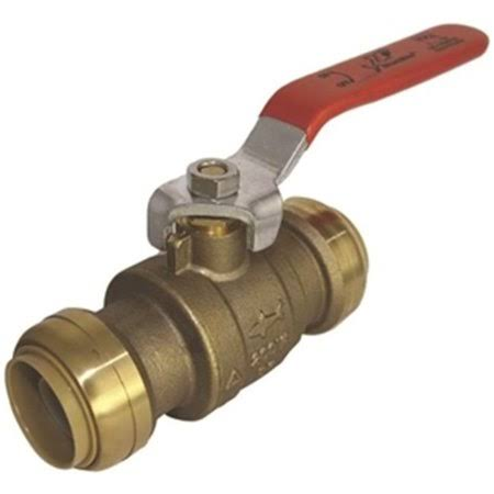 "Cash Acme Sharkbite Brass Ball Valve - 1"" x 1"""
