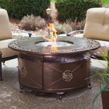 Fortunoff Patio Furniture Covers by Propane Gas Fire Pit Fire Bowl Round Table Glass Beads Patio Deck