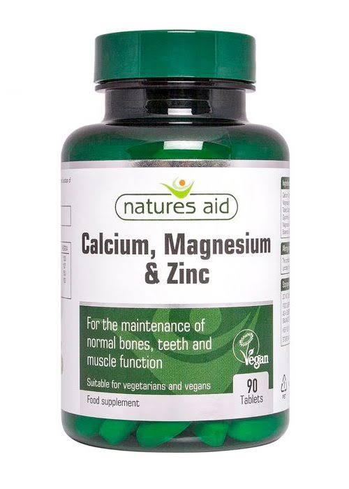 Nature's Aid Calcium, Magnesium + Zinc Food Supplement - 90 Tablets