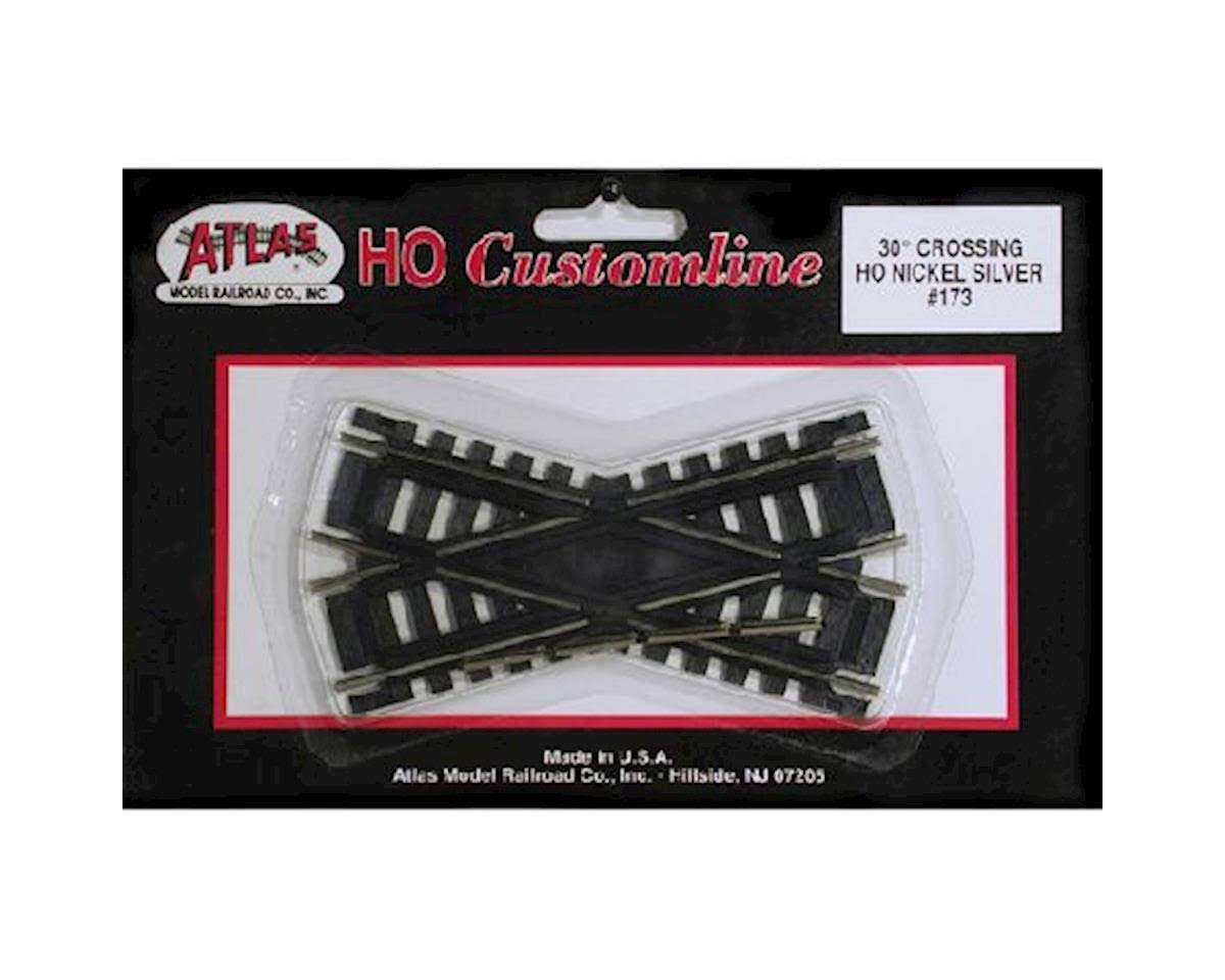 Atlas HO 173 Code 100 Track - Nickel, 30 Degree