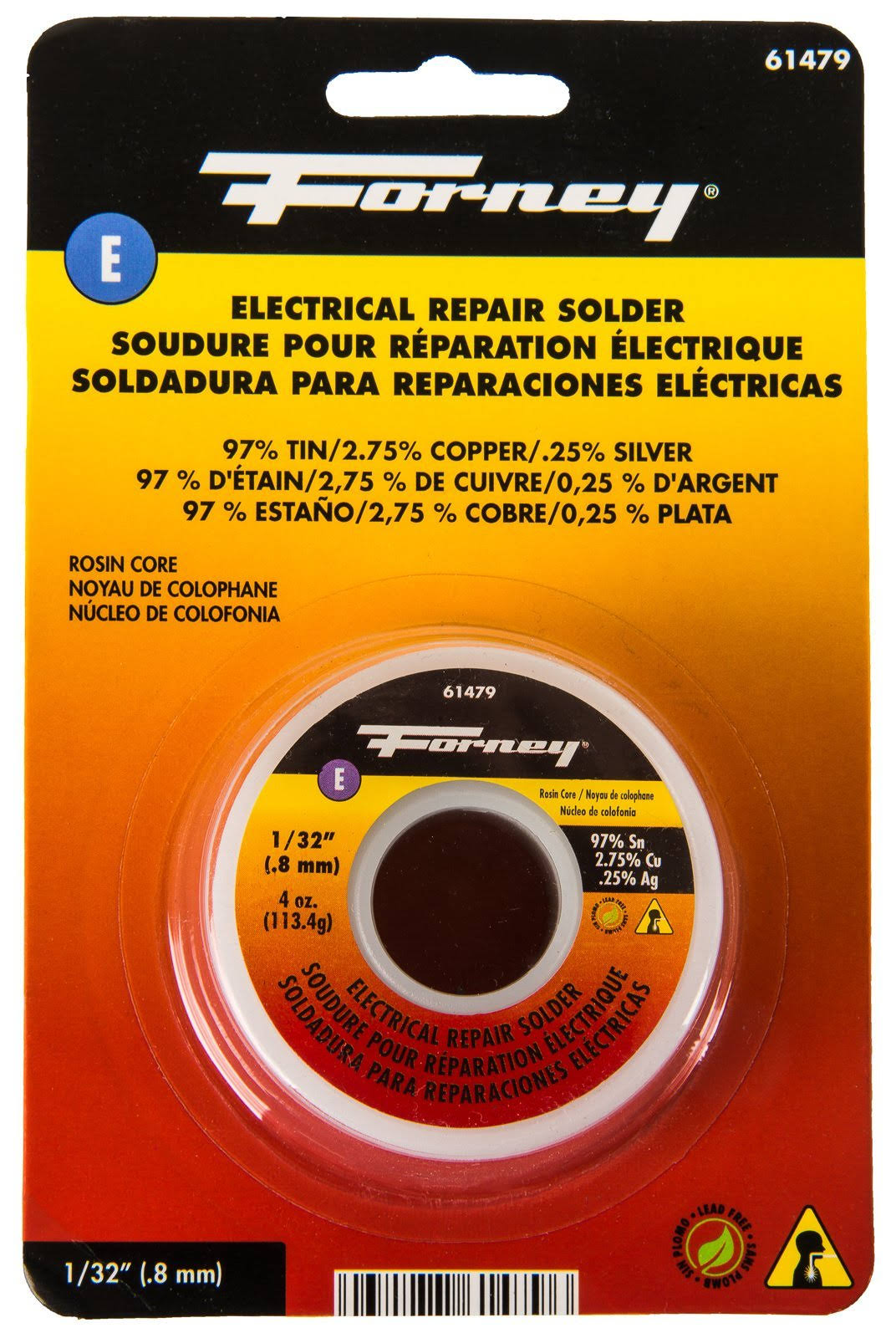 Forney Industries Lead Free Rosin Core Solder