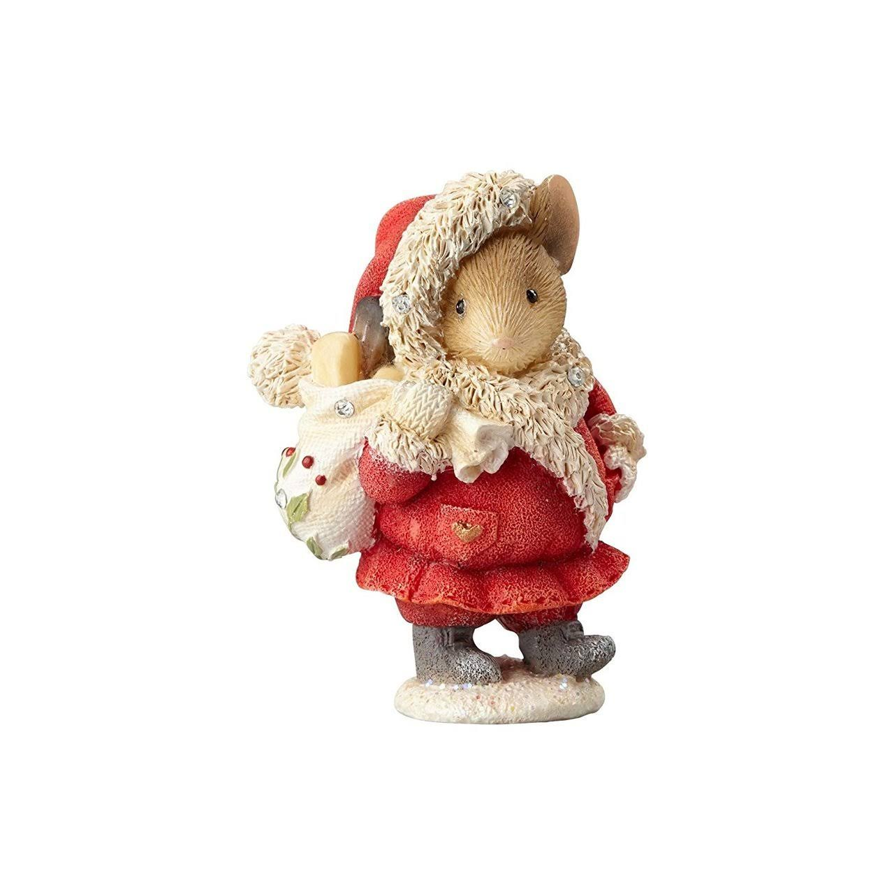 Enesco Heart of Christmas Believe Santa Mouse Figurine