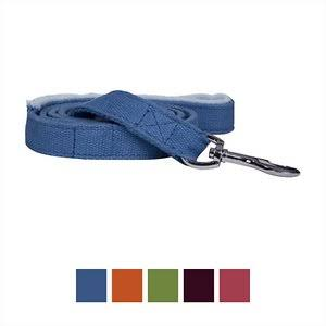 Planet Dog Fleece Lined Handle Lil Hemp Dog Leash - Blue, 5'