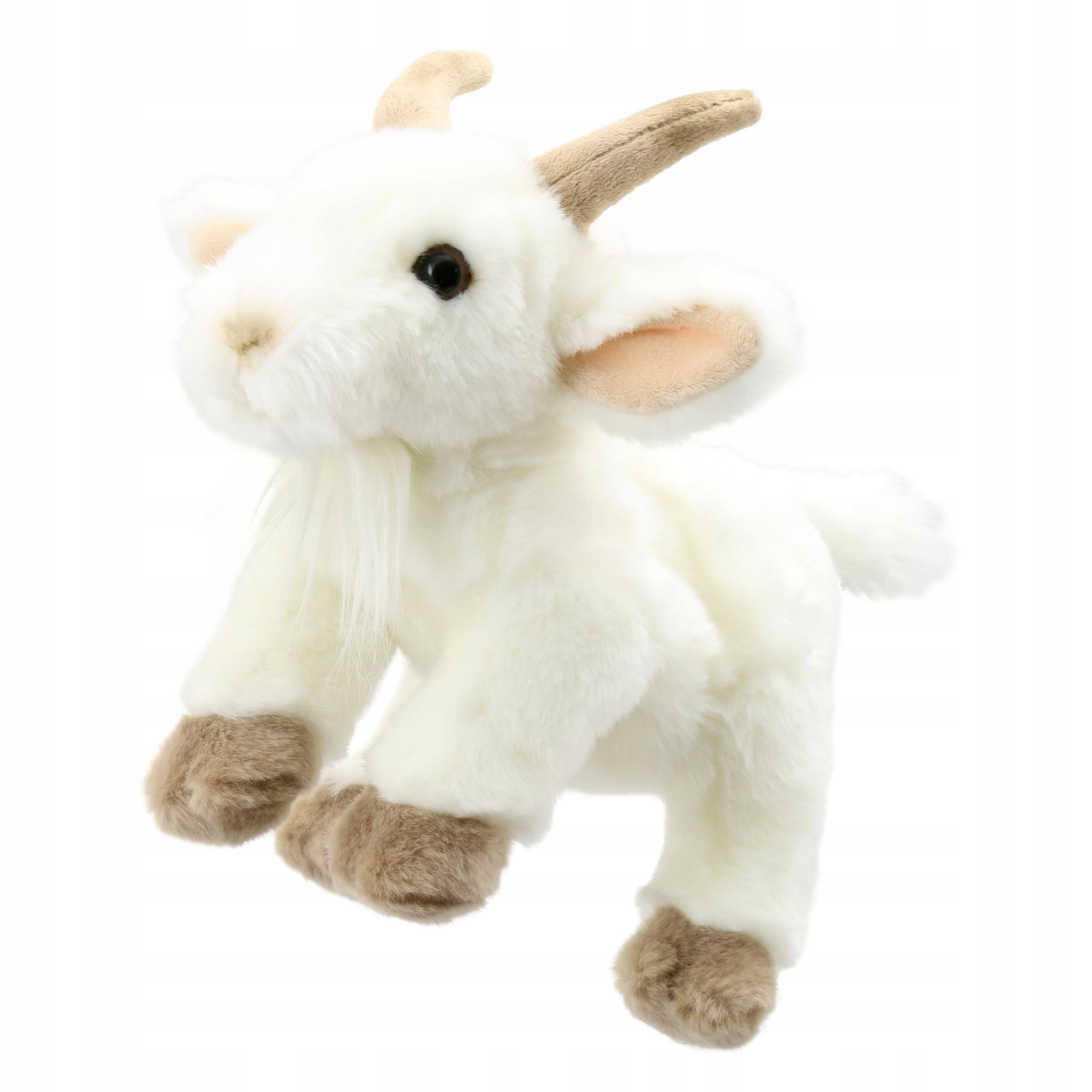 Puppet Company Full-bodied Animal Puppet - Goat, White and Beige