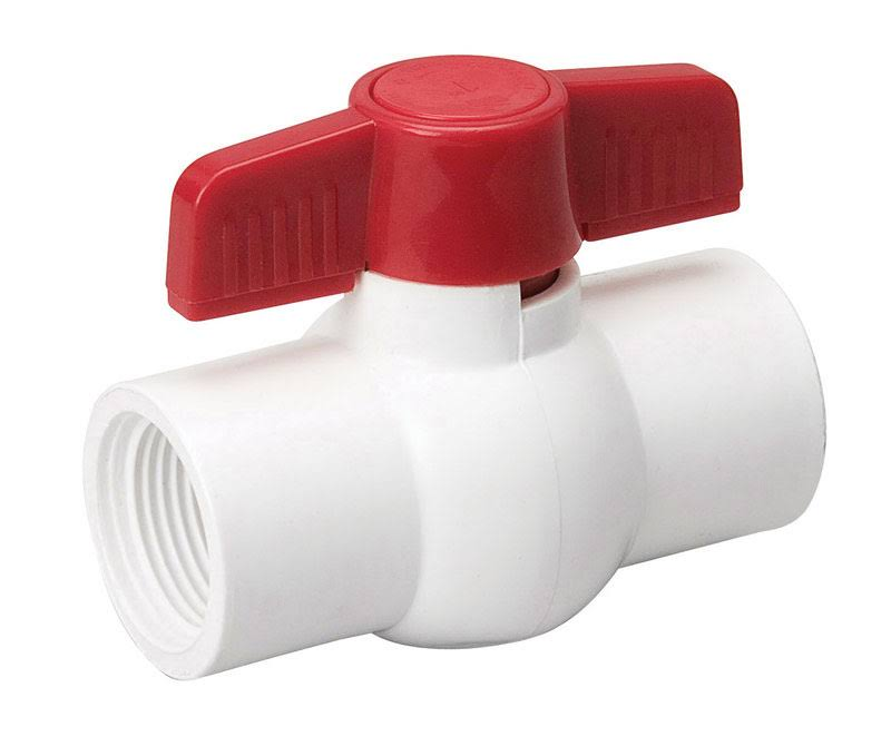Mueller Threaded PVC Ball Valve - 1/2""