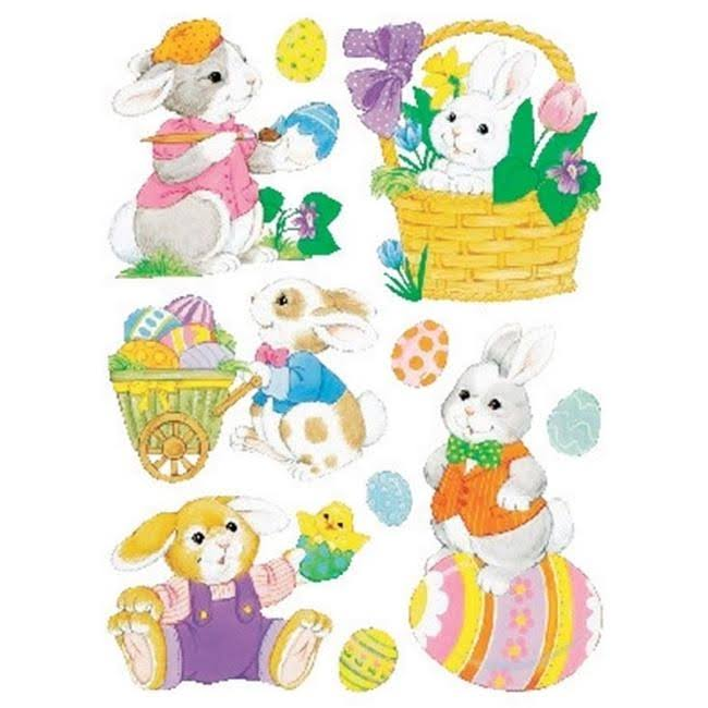 "Impact Innovations Classic Easter Window Clings - 12"" x 17"", Set of 2 Sheets"
