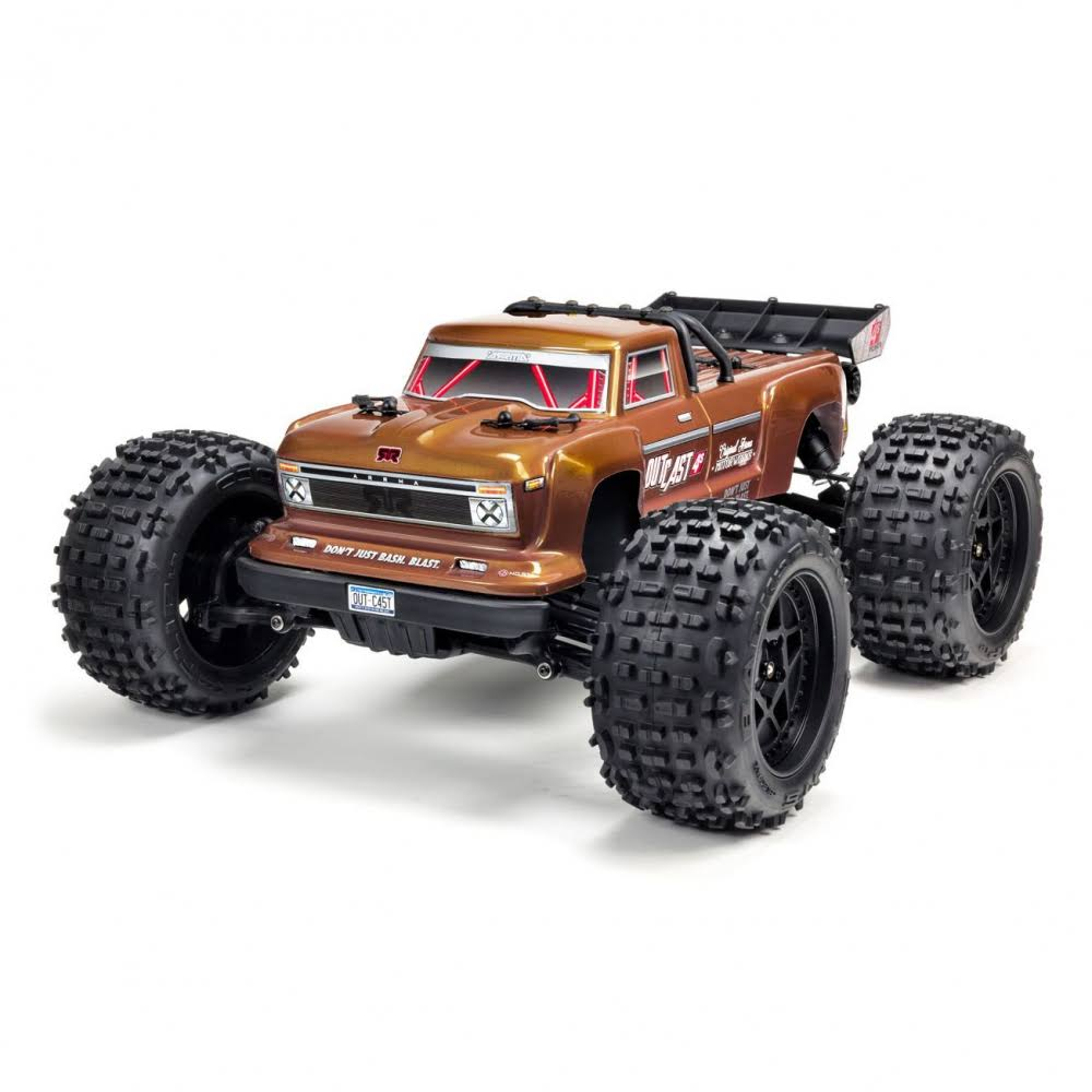 Arrma 1/10 Outcast 4x4 4S BLX Brushless Truggy RTR, Bronze, Ara102692