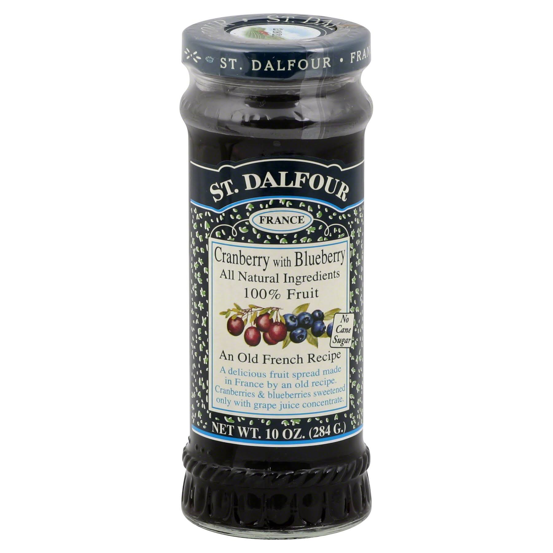 St. Dalfour, Cranberry with Blueberry Fruit Spread, 10 oz (284 g)