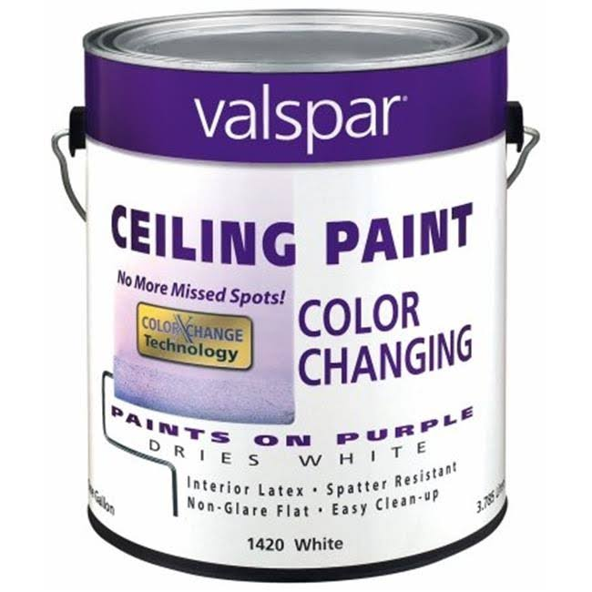 Valspar 1420 Color Changing Latex Ceiling Paint - White, 1gal