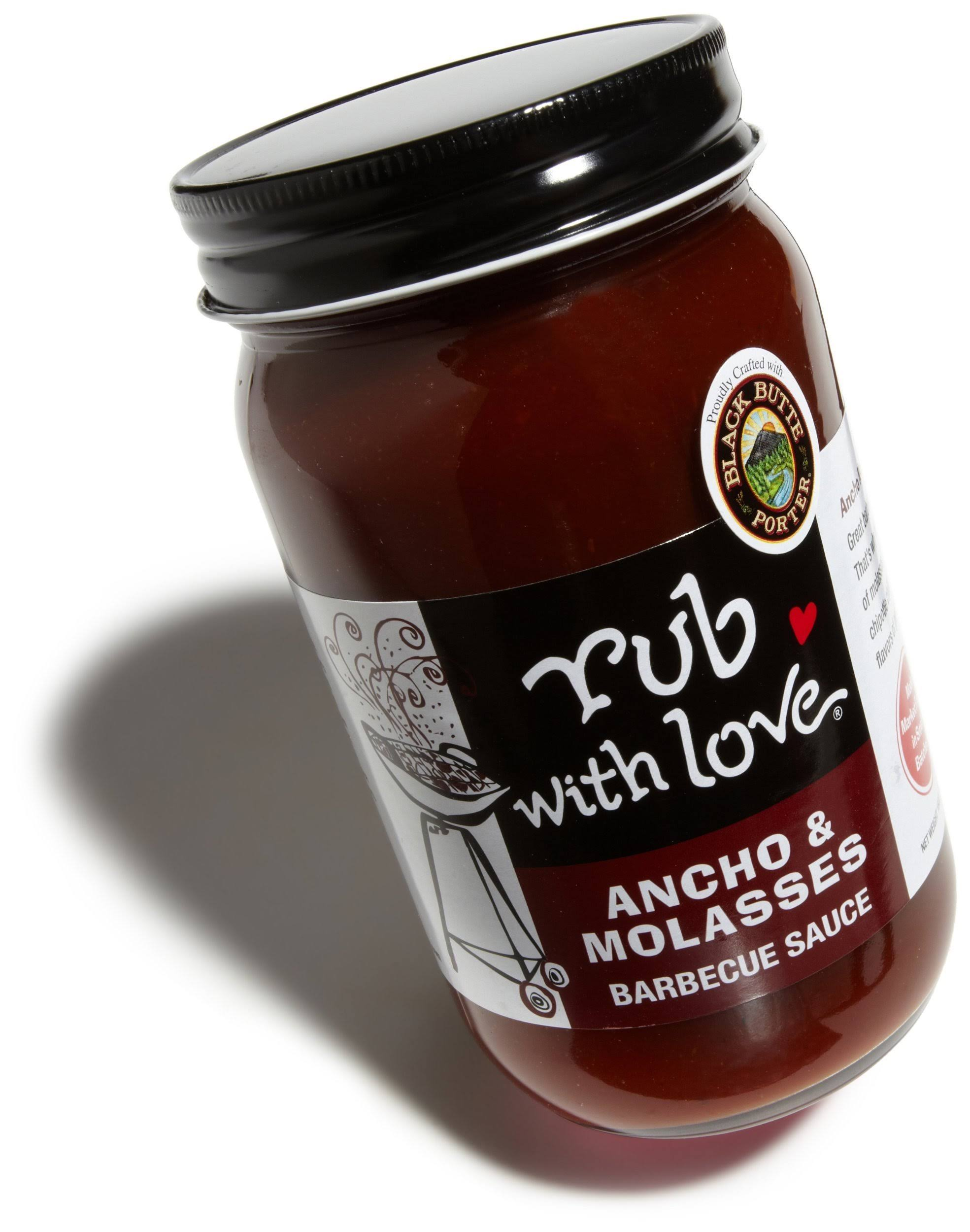 Rub With Love Barbecue Sauce - Ancho and Molasses, 16oz