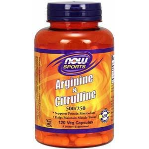 Now Foods Arginine & Citrulline Dietary Supplement - 120 Capsules