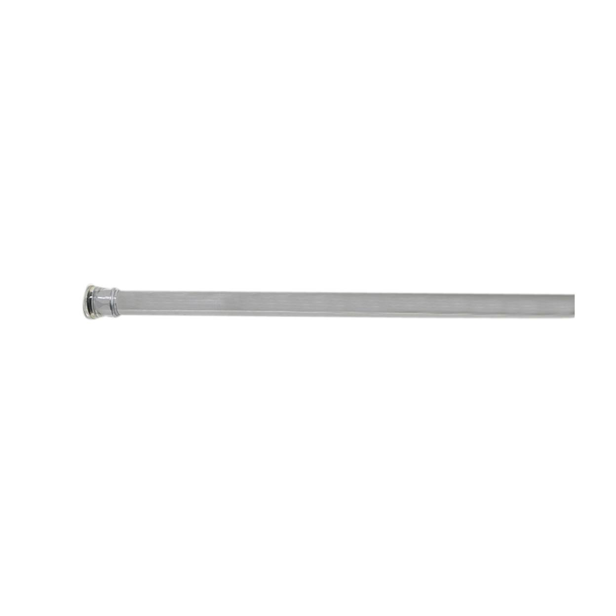 "Bath and Shower Curtain Adjustable Tension Rod - 41"" - 72"" Long, Chrome"