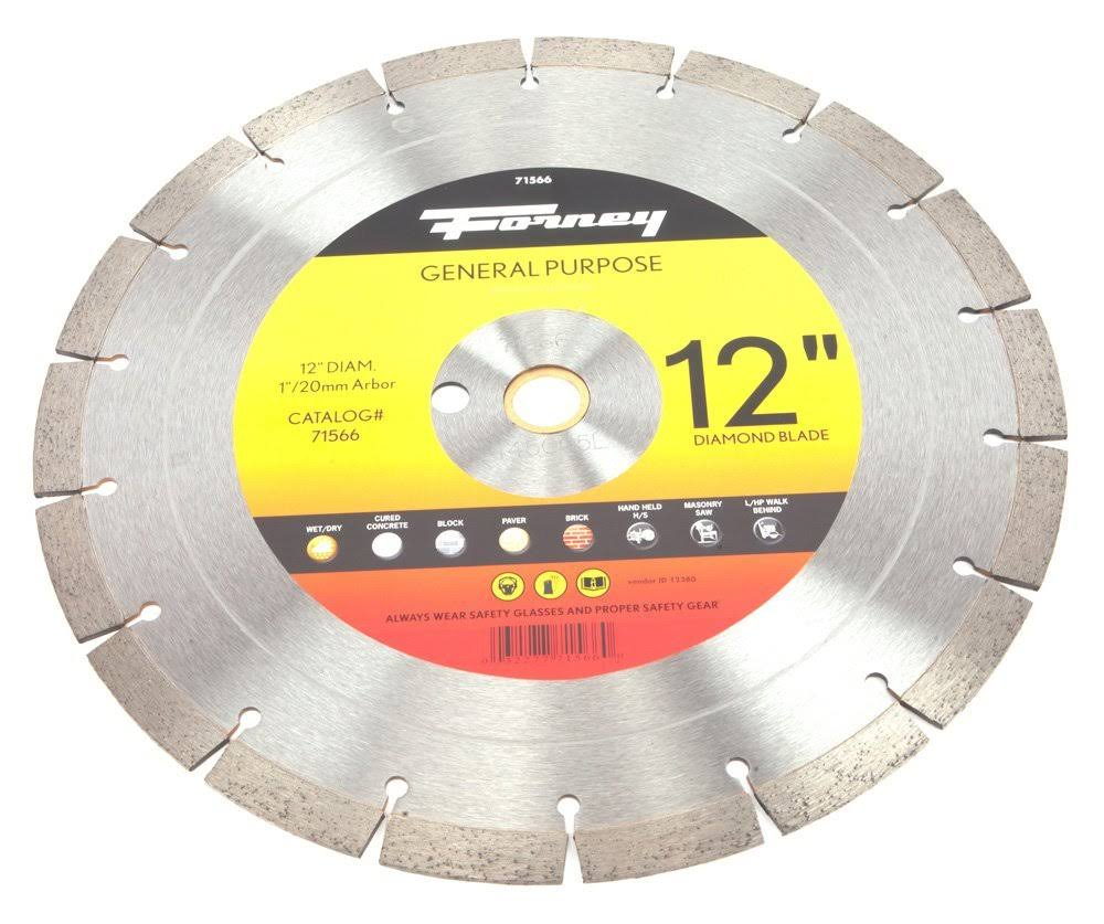 Forney Diamond Contractor Blade - 12""