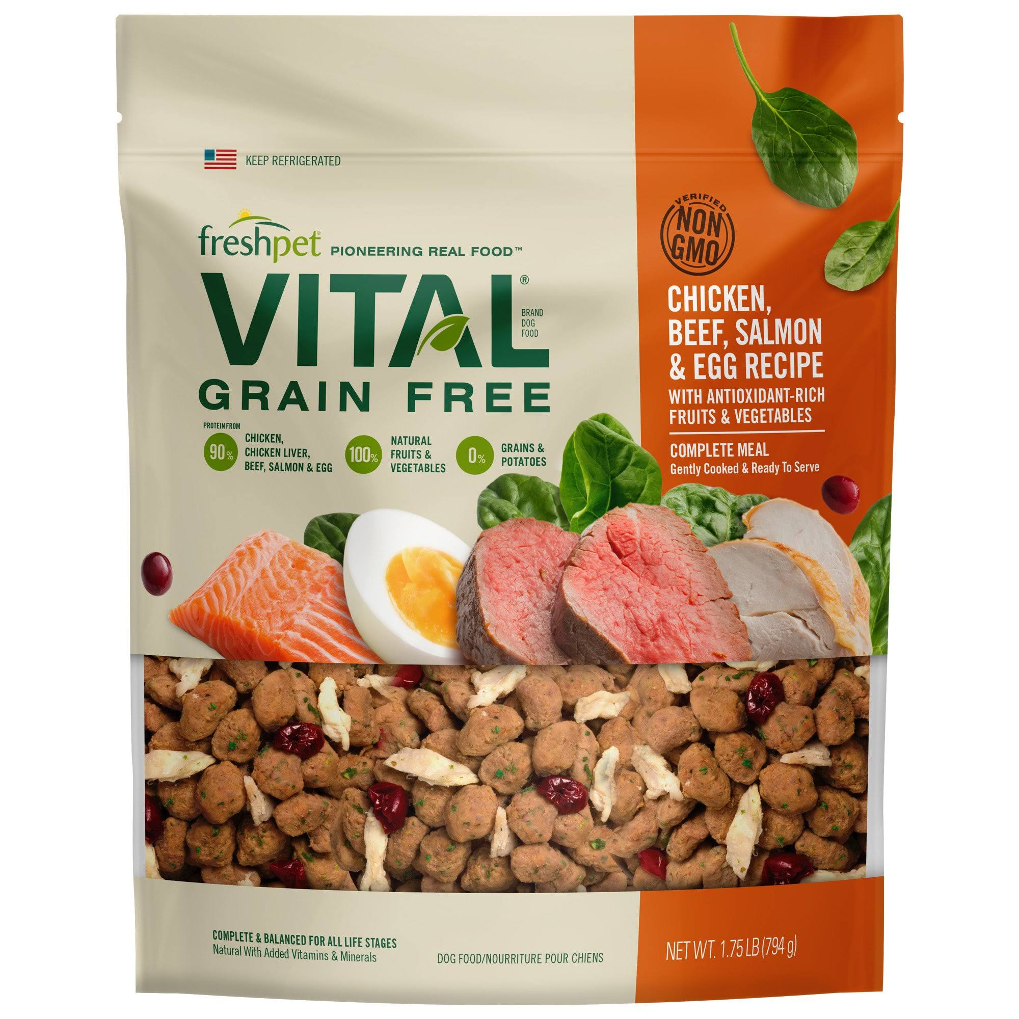 Freshpet Vital Complete Meals for Dogs - 1.75lbs
