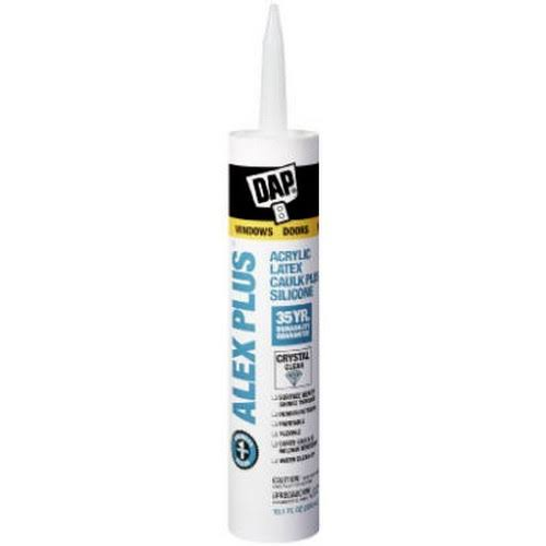 Dap Alex Plus Clear Acrylic Latex Caulk - 10.1oz