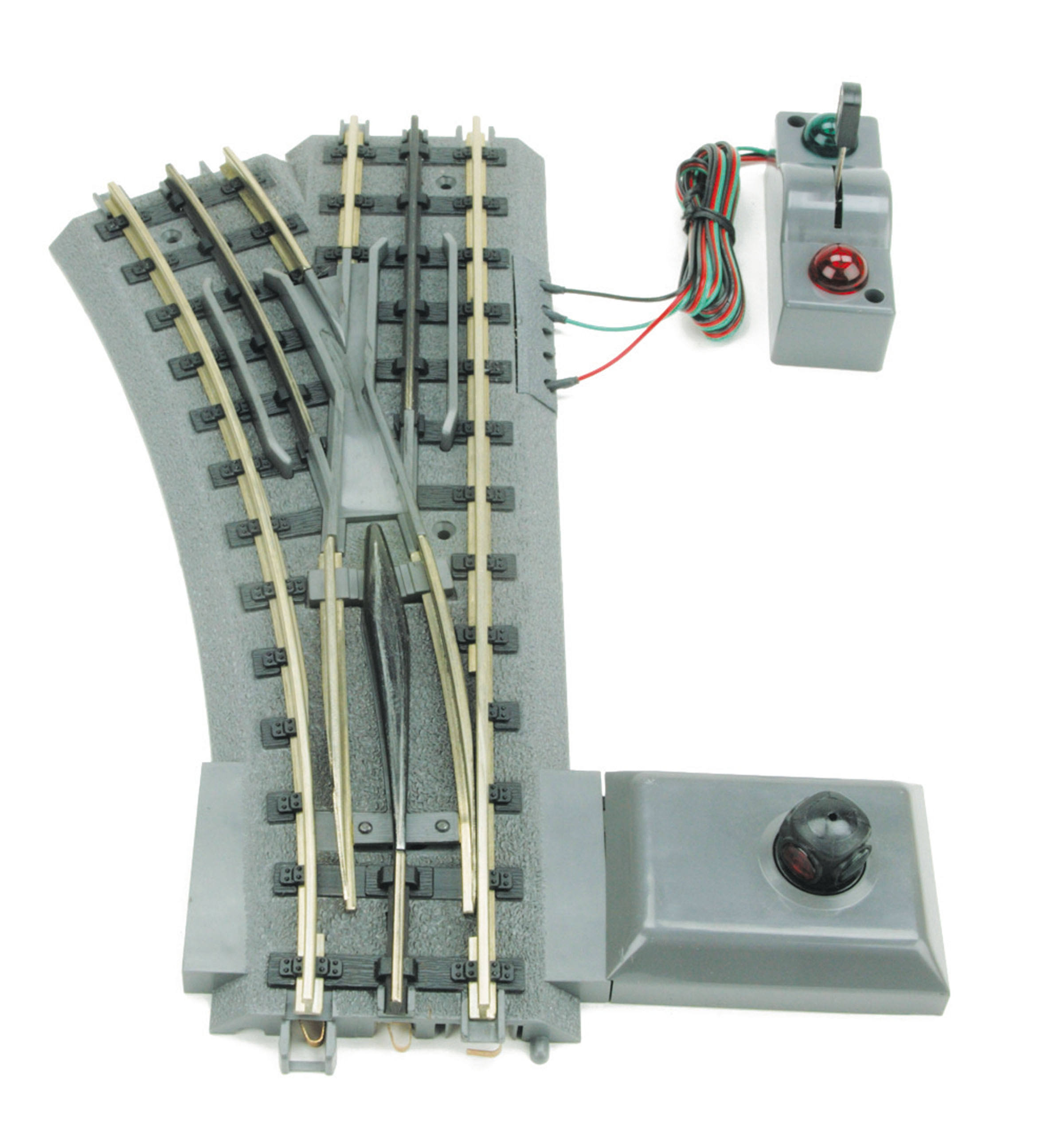 M.T.H. Electric Trains O-42 Realtrax Remote Switch - Left-Hand