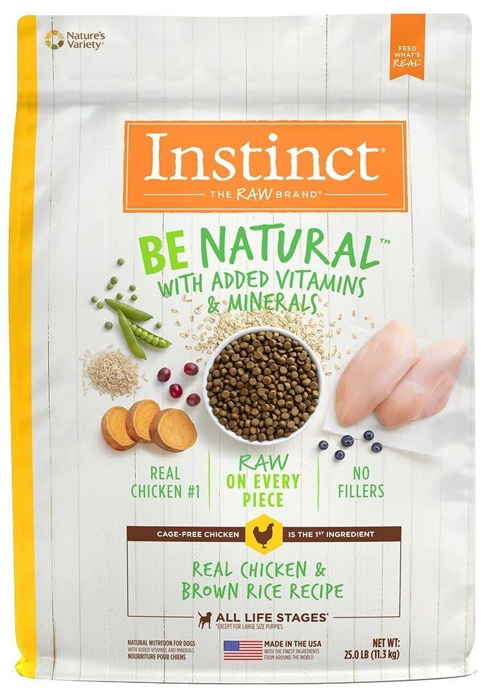Instinct Be Natural Dog Food - Chicken & Brown Rice, 5.45kg