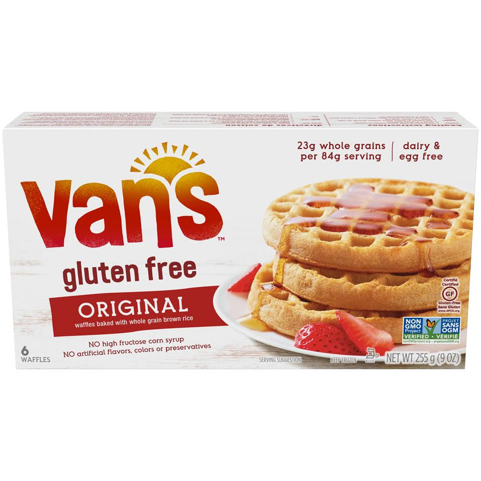 Van's Simply Delicious Totally Original Gluten Free Waffles - 9oz, 6ct
